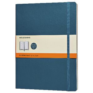 Moleskine Soft Cover XL Notebook Ruled Underwater Blue