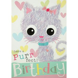 Card Couture Birthday Card Furry Cat