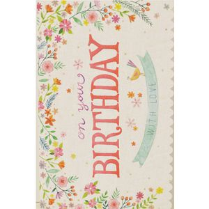 Card Couture Birthday Card Watercolour Floral