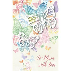 Card Couture All Occasion Blank Card Butterflies