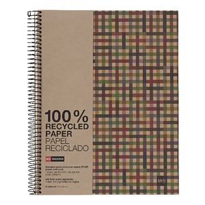 Miquelrius A4 Recycled Notebook 5mm Square Tweed 240 Page