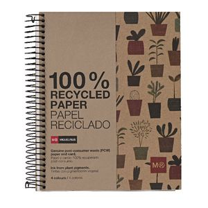 Miquelrius A5 Recycled Notebook 7mm Ruled Plant 240 Page