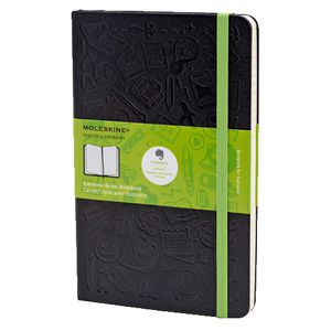 Moleskine Large Evernote Hard Cover Ruled Notebook Black