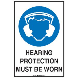 Mills Display Hearing Protection Sign 300 x 450mm
