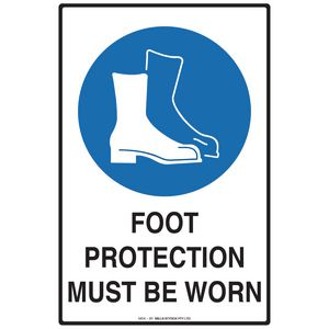 Mills Display Protective Footwear Sign 300 x 450mm