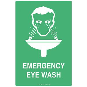 Mills Display Emergency Eye Wash Station Sign 300 x 450mm