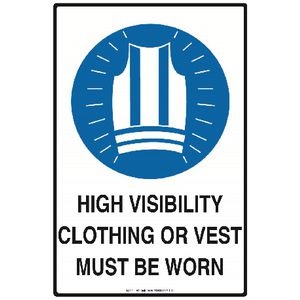 Mills Display High Visibility Clothing Must Be Worn Sign
