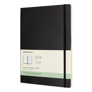 Moleskine Week to View Soft Cover XL Notebook Diary Black