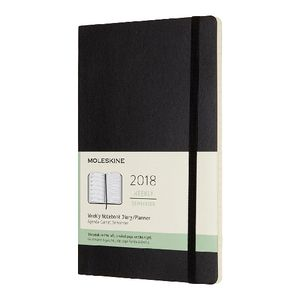 Moleskine Week to View Soft Cover Notebook Diary Black