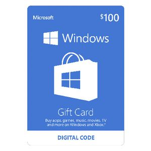 Microsoft Windows Store Digital Download Giftcard $100