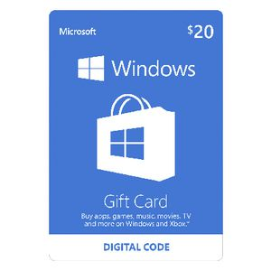 Microsoft Windows Store Digital Download Giftcard $20