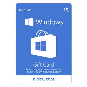 Microsoft Windows Store Digital Download Giftcard $5