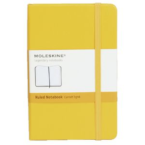 Moleskine Classic Hard Cover Ruled Pocket Notebook Yellow