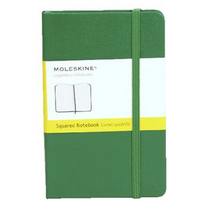 Moleskine Hard Cover Squared Notebook Green