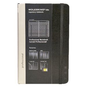 Moleskine Professional Meeting Notebook Large Black