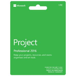 Microsoft Office Project Professional 2016 Card