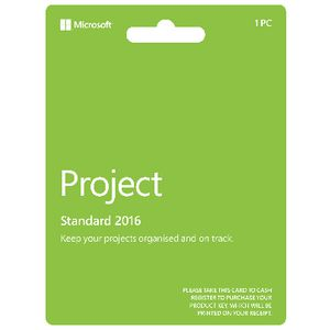 Microsoft Office Project Standard 2016 Card