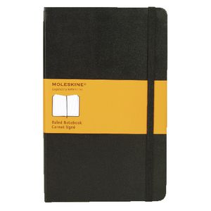 Moleskine Classic Hard Cover Ruled Large Notebook Black