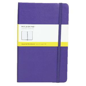 Moleskine Classic Hard Cover Squared Large Notebook Violet