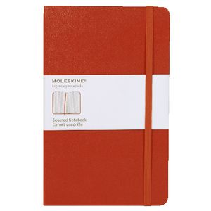 Moleskine Classic Hard Cover Squared Large Notebook Red