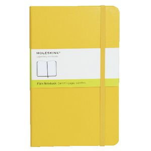 Moleskine Classic Hard Cover Plain Large Notebook Yellow