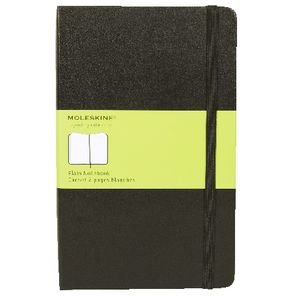 Moleskine Classic Hard Cover Plain Large Notebook Black