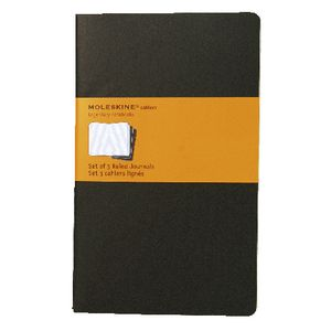 Moleskine Cahier Ruled Notebook Large Black 3 Pack