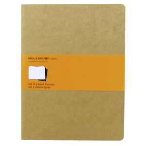 Moleskine Cahier Ruled Notebooks Extra Large Kraft 3 Pack