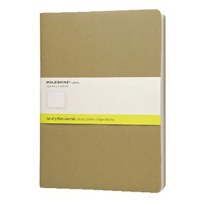 Moleskine Cahier Extra Large Notebook Plain Kraft 3 Pack