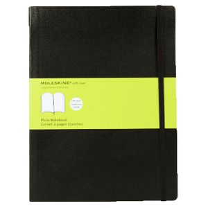 Moleskine Classic Soft Cover Plain XLarge Notebook Black