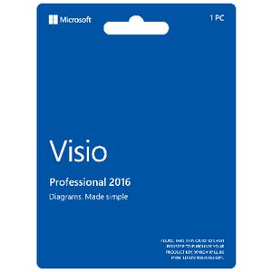 Microsoft Office Visio Professional 2016 Card