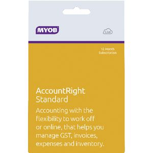 MYOB AccountRight Standard 1 PC 12 Months Download