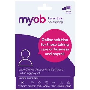 MYOB Essentials with Payroll 1 PC 12 Months Card