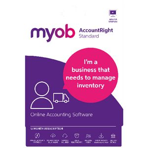 MYOB AccountRight Standard 1 PC 12 Month Card