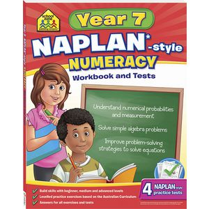 School Zone Naplan Year 7 Numeracy Workbook