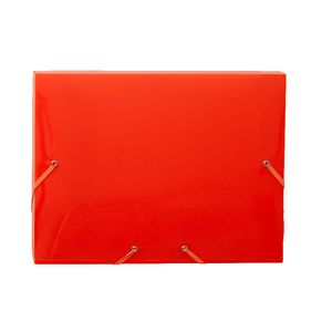 Document Box A4 PP Elastic Closure Orange