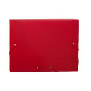 Document Box A4 PP Elastic Closure Red