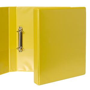 J.Burrows Insert Binder A4 2 D-Ring 25mm Yellow