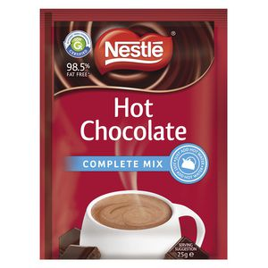 Nestle Complete Mix Hot Chocolate 25g 100 Pack