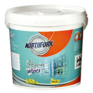 Northfork Glass and Stainless Steel Wipes Tub 150 Pack