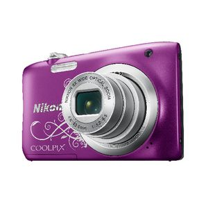 Nikon Coolpix Digital Camera Purple Pattern A100