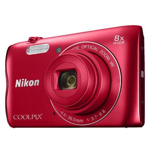Nikon Coolpix Digital Camera Red A300
