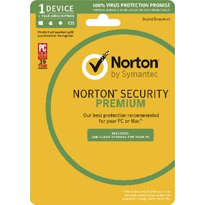 Norton Security Premium 2GB 1 Device 1 Year Card