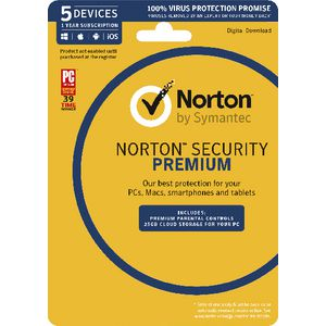 Norton Security Premium 25GB 5 Device 1 Year Card