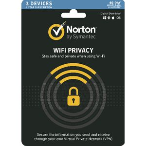 Norton WiFi Privacy 3 Devices 12 Months Card