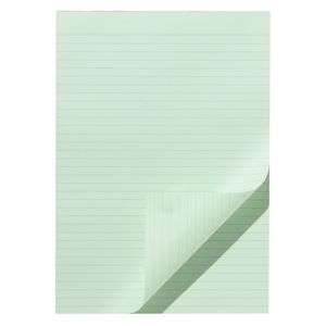 Note Ruled Notepad Green
