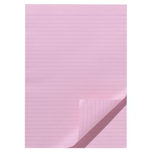 Note Ruled Notepad Pink