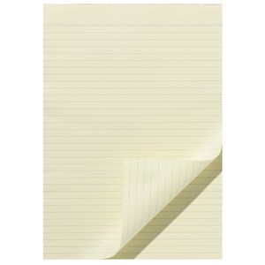 Note Ruled Notepad Yellow