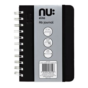 nu: Elite A6 Wiro Journal Black