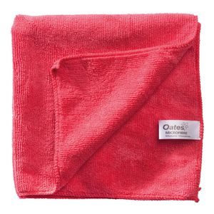 Oates Microfibre Cleaning Cloth Red